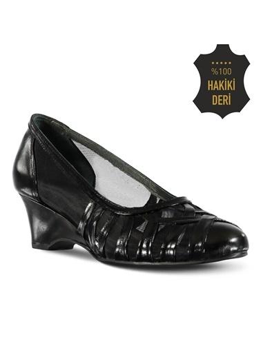 % 100 Deri Dolgu Topuk Ayakkabı Marjin